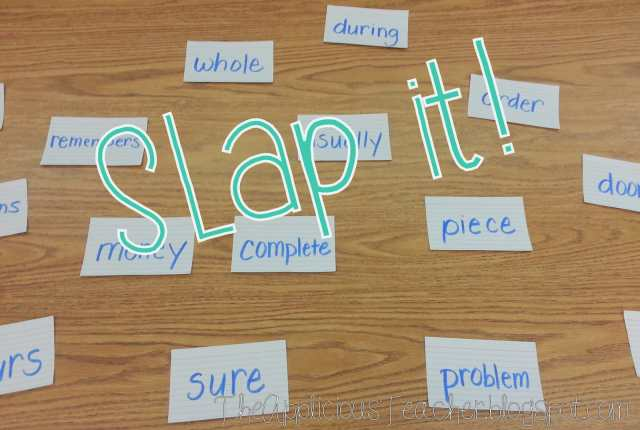 Slap it! Build sight words fluency using this small group game