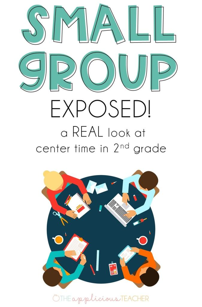 Small group routine for 2nd grade- Ever wondered what another teacher's center time looks like? This post pulls back the curtain on small group and explains how one teacher was able to rework her schedule so that she can see every student, everyday. TheAppliciousTeacher.com