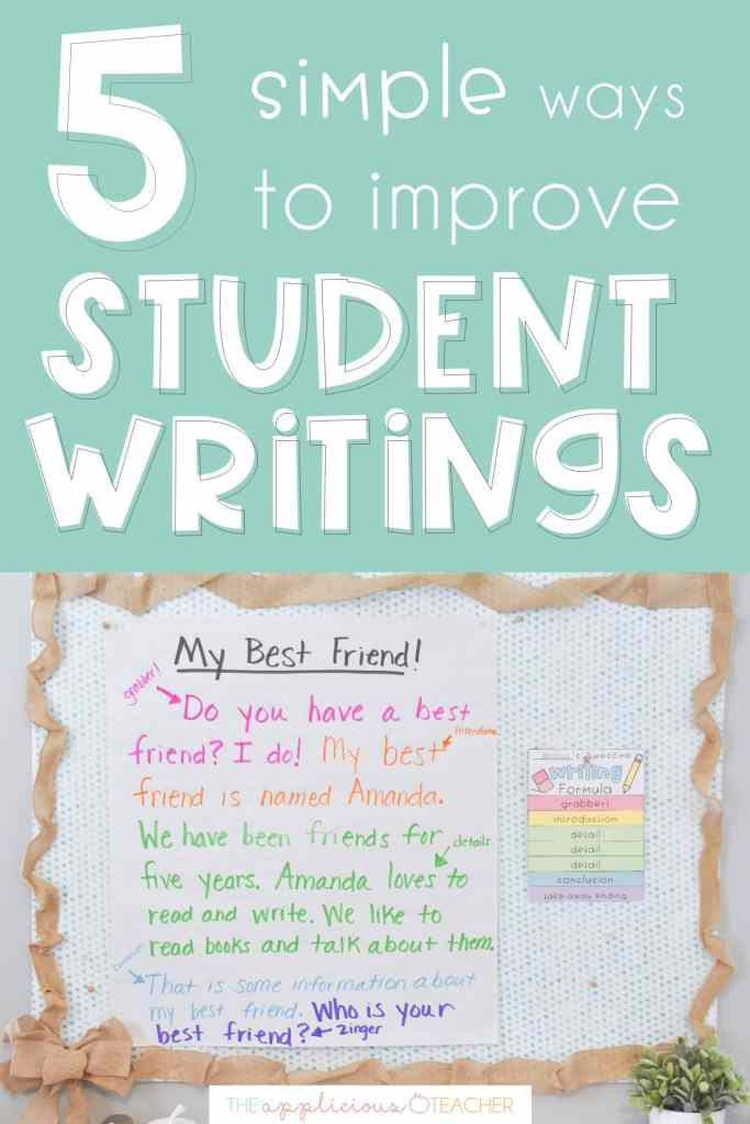 ways to improve student writing