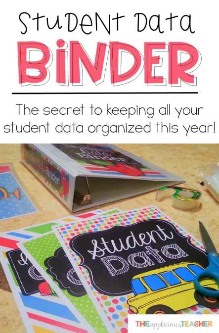 Keep your student data organized this school year with this easy to assemble student data binder. Perfect for last minute meetings. No more wondering, where did I put that?