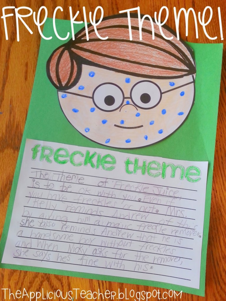 Worksheets Freckle Juice Worksheets freckle juice and number sense the applicious teacher writing craft