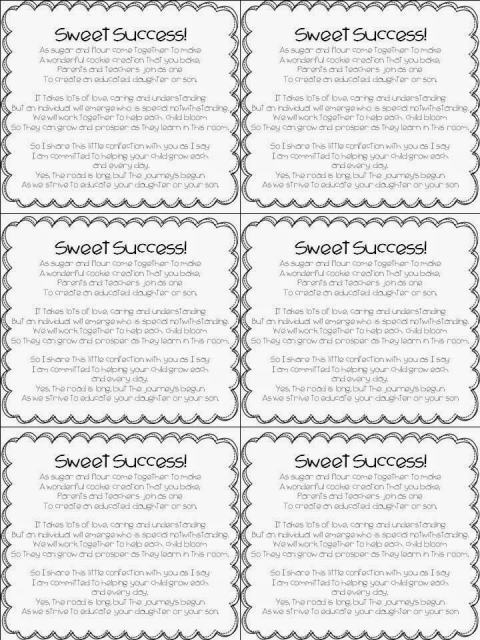 open house cookie poem printable