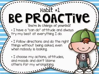 The Leader in Me Posters- Be Proactive