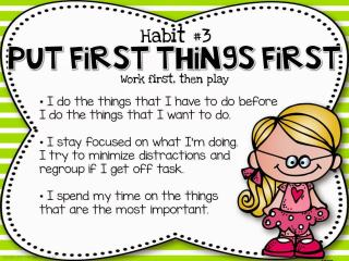 The Leader in Me Put First Things First