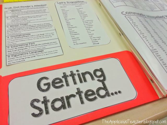 student reference writing folder
