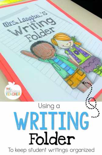 Using a  writing folder to keep student writings organized