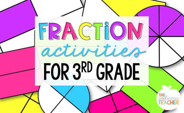 fraction activities for 3rd grade