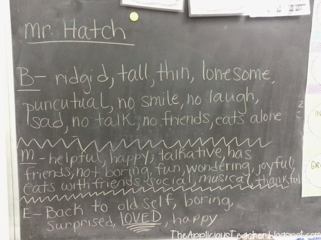 character traits with Somebody Loves you Mr. Hatch