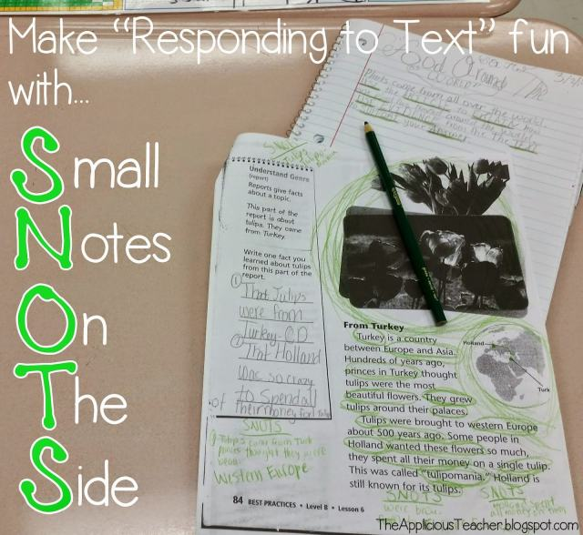 Strategey for students to annotate text using SNOTS