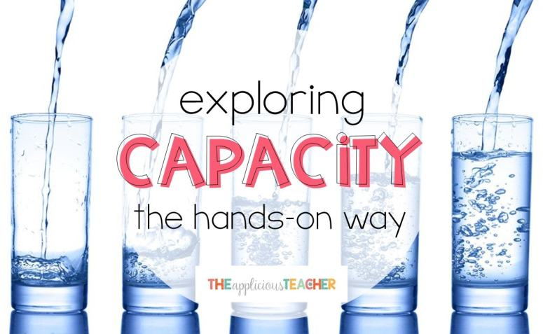 Exploring capacity in a fun and engaging way!