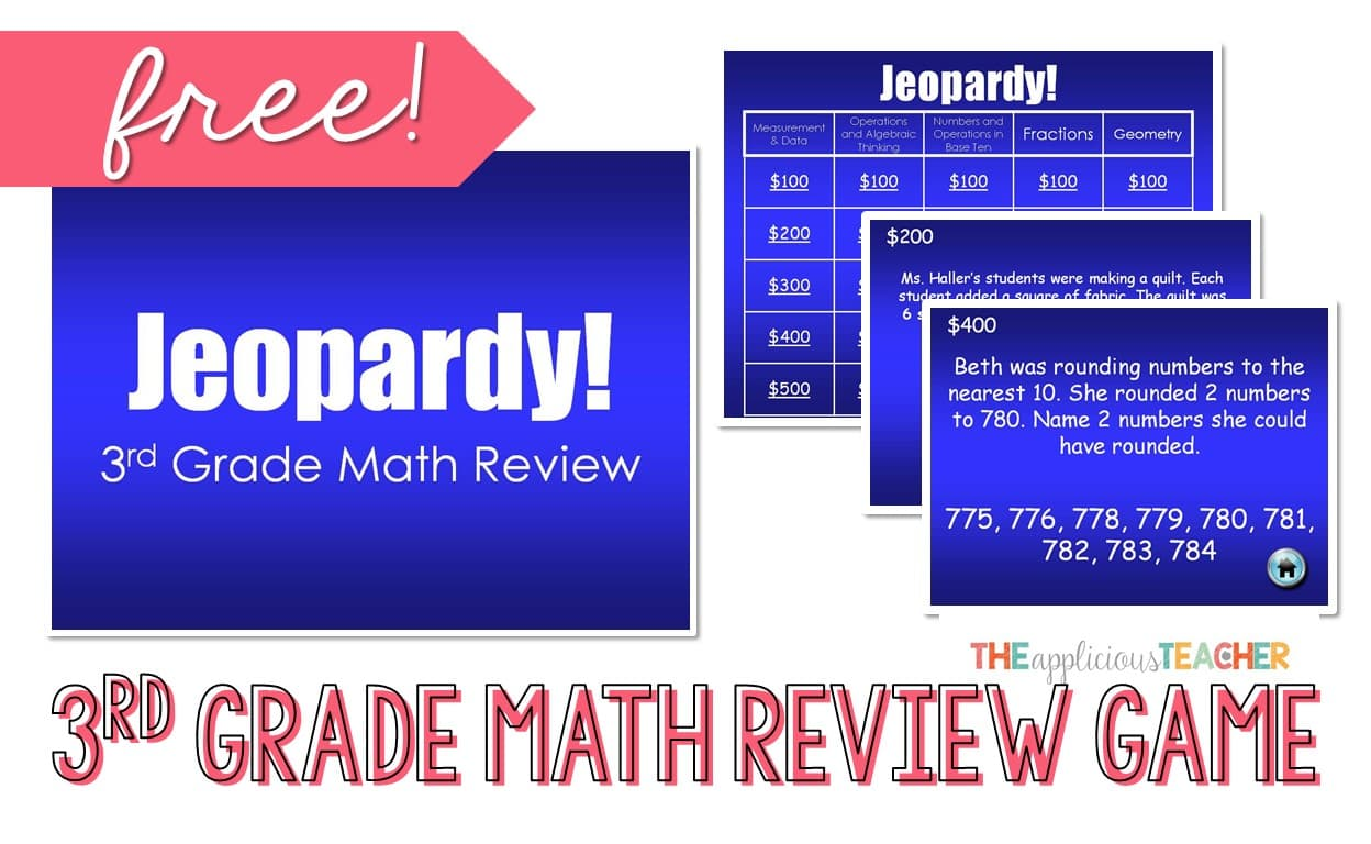 Math 3rd Grade Daily Review Freebie