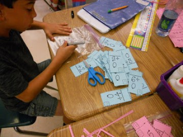 student made flash cards- perfect to put in summer review buckets
