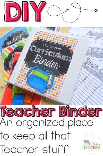 get organized in the new year with this teacher binder!