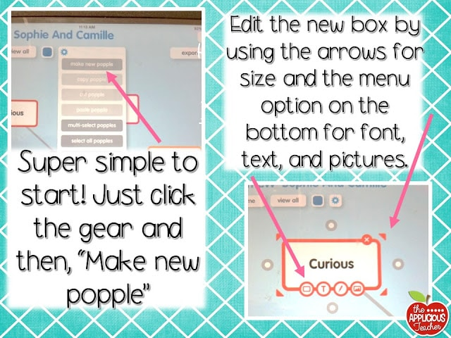 how to make a popple in popplet