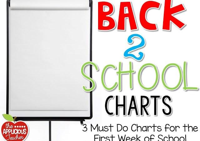 First Week of School Charts FREEBIE