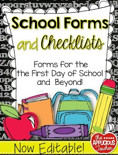 back to school forms and checklists