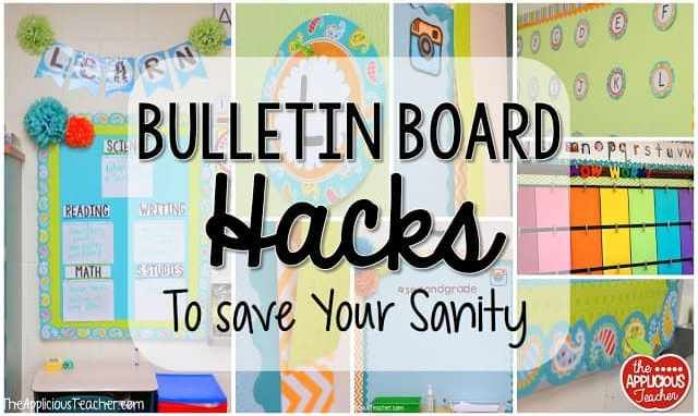 Bulletin board hacks to save your sanity!