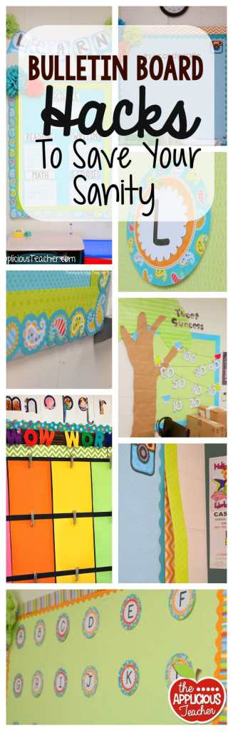 Bulletin board hacks to save your sanity. No more wasting time over your bulletin board. These easy tips will help you transform your classroom without giving you a headache. And that no cut one? GENIUS!