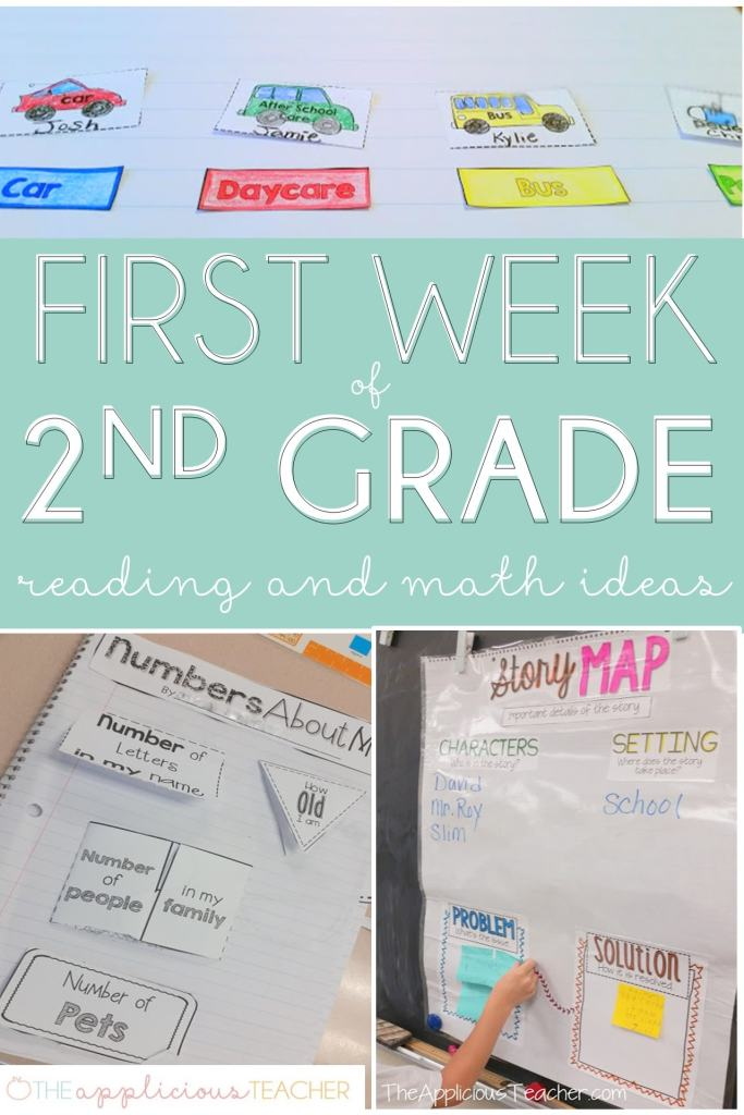 first week of 2nd grade lesson plan ideas and activities- theappliciousteacher.con #firstweekofschool #backtoschool #2ndgrade