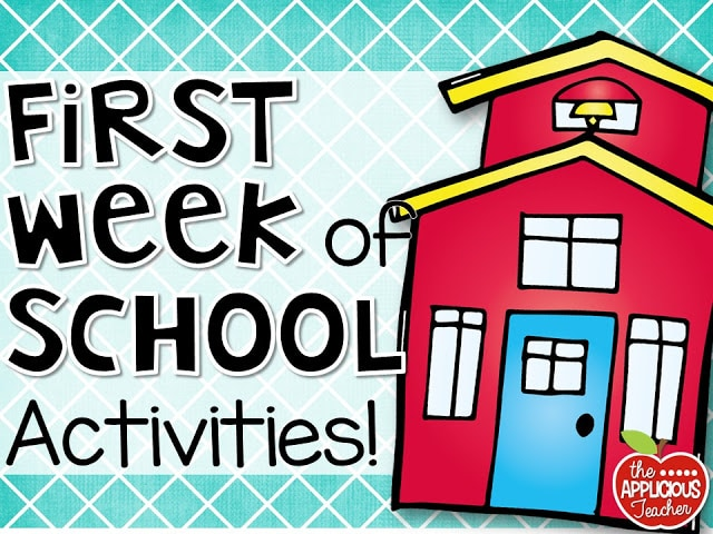 Activities for the First Week of School