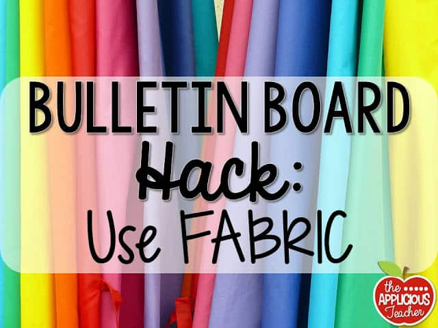 use fabric instead of paper for your bulletin board background