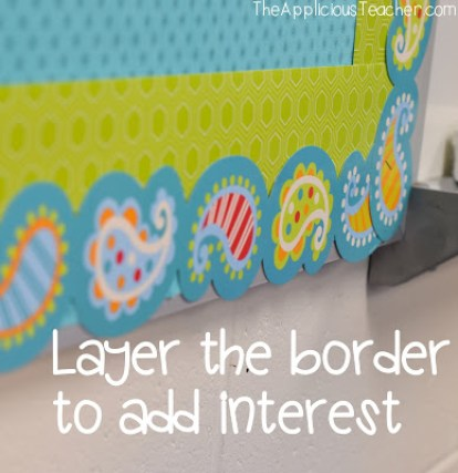mix the types of borders you layer