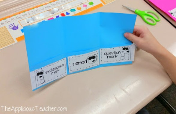ending punctuation foldable
