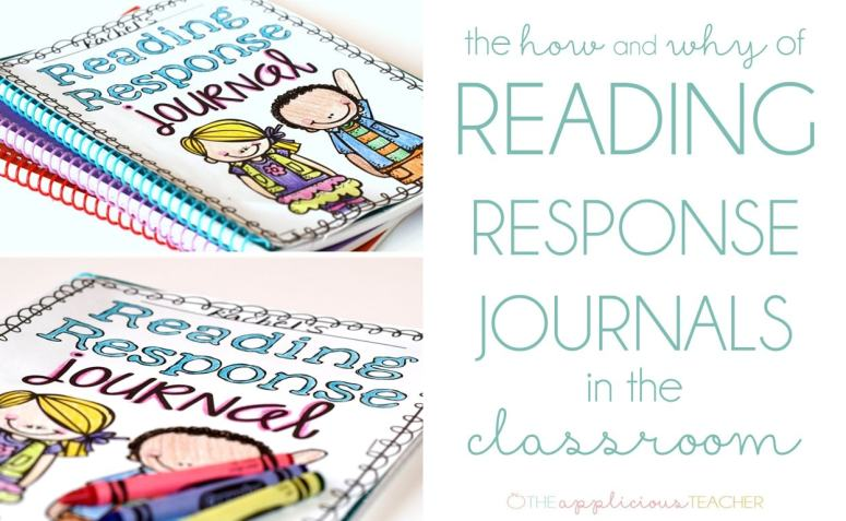 The How and Why of Reading Response Journals in the Classroom- one of the easiest and most powerful tool in my student's desks.