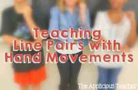 teaching line pairs with hand motions