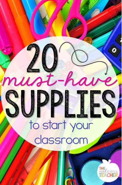 20 Must Have School Supplies to start your classroom- great list of must haves for your classroom-TheAppliciousTeacher.com #backtoschool #classroom