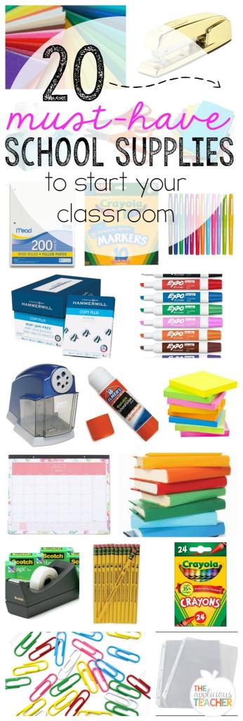 20 Must-have school supplies to start your classroom