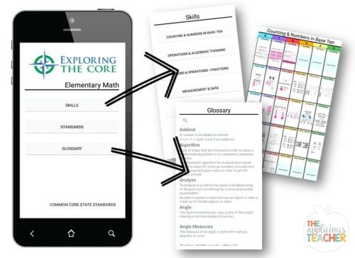 Super easy to navigate this easy Common Core Math Standards app