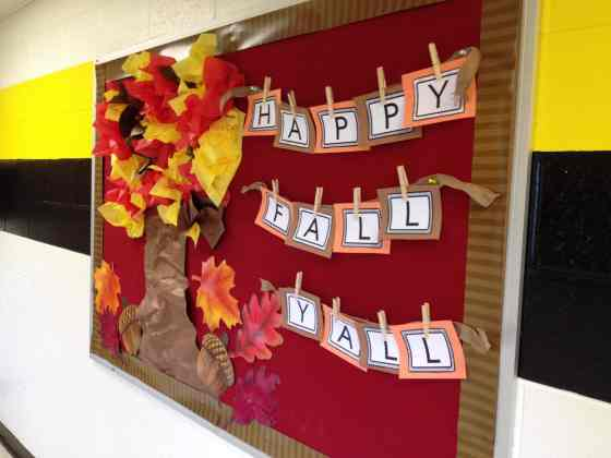 Happy Fall tree bulletin board
