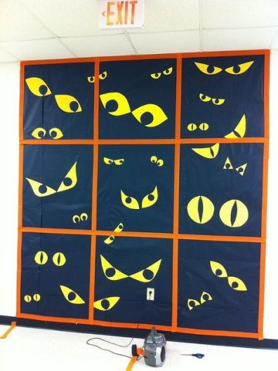 spookey eyes bulletin board. Love this for october!