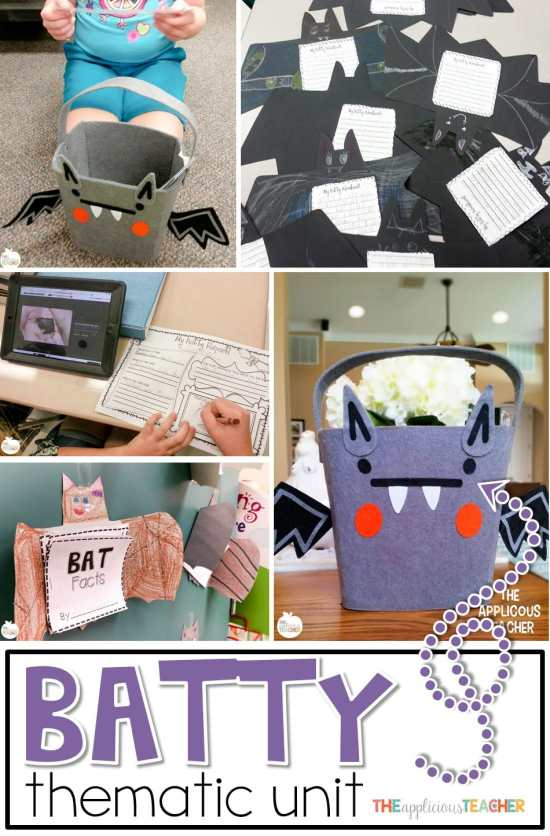 Bat thematic unit and activities- so many great ideas for using bats to engage students around Halloween! Love the bat research reports!
