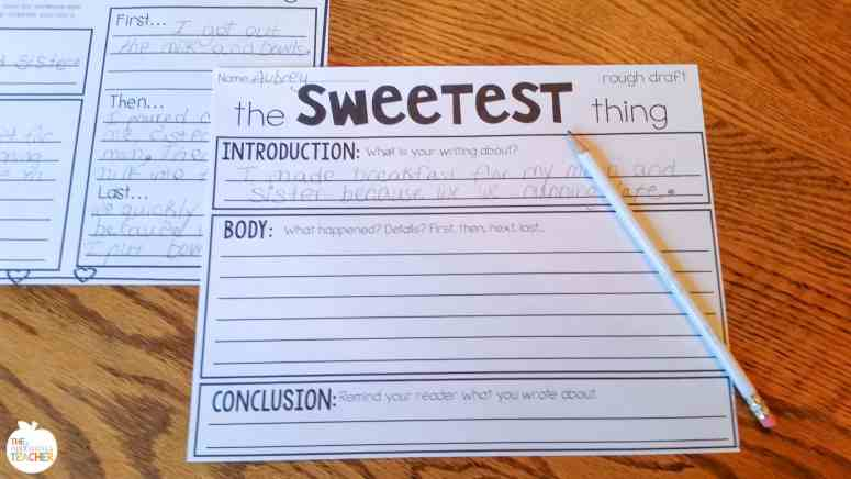 Valentine's Day writing activity- rough draft