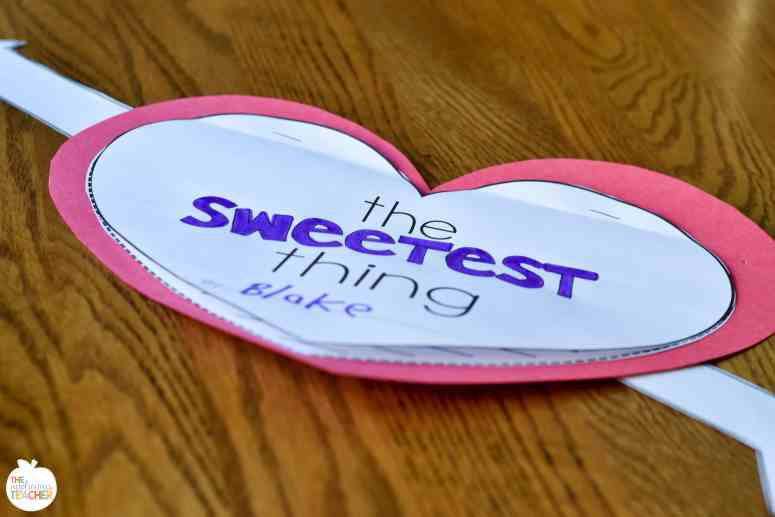 the sweetest thing writing activity heart