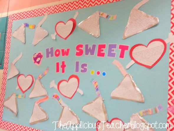 Hershey kiss and heart bulletin board