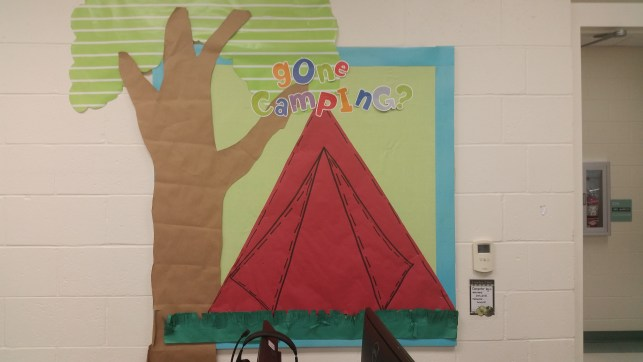 Gone camping? Bulletin board- perfect for camping themed classroom or activities