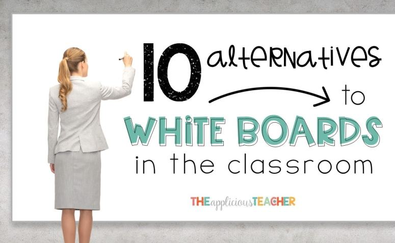 Don't have a class set of whiteboards? No worries. These classroom friendly surfaces are perfect for wipe on and wipe off activities