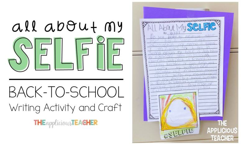 All About My Selfie- perfect back to school About Me writing activity