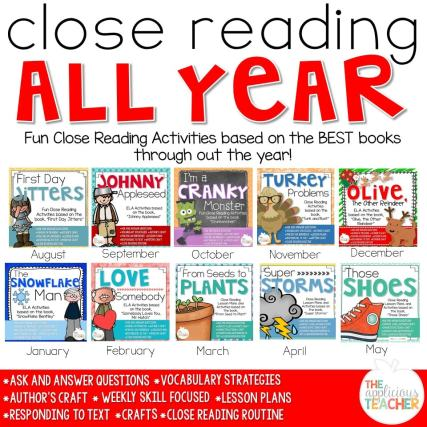 Close reading lesson plans that are perfect for 2nd and 3rd grade.