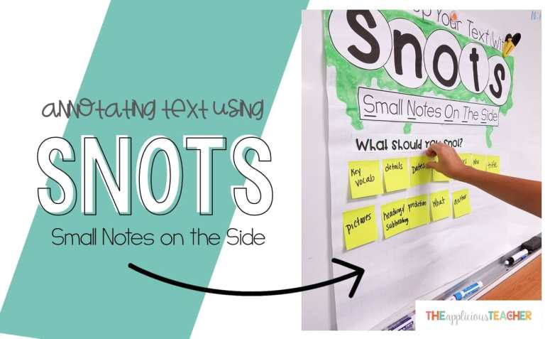Teaching students how to annotate text using SNOTS.