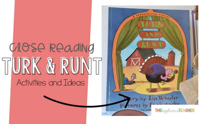 Turk and Runt Close Reading Activities- great post outlining some fun and engaging activities for the book Turk and Runt. Follows a five day close reading activity.
