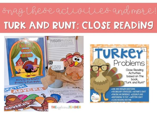 close reading activities for turk and runt- low prep