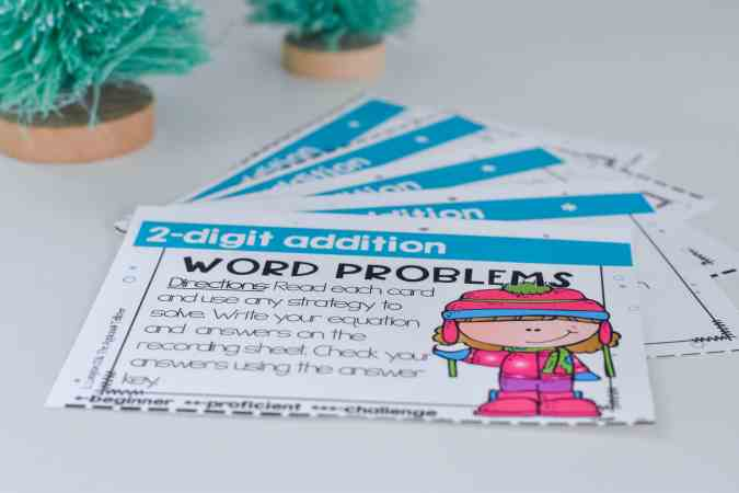 word problem task cards for grades 2nd-4th