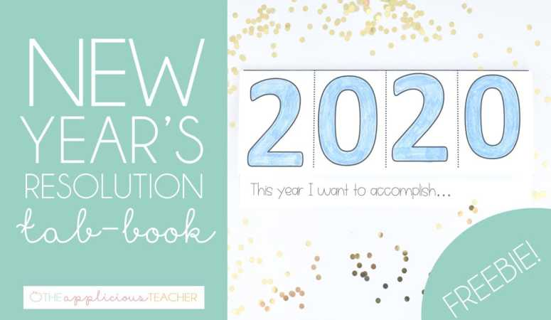 New Year's Resolution Tab Book