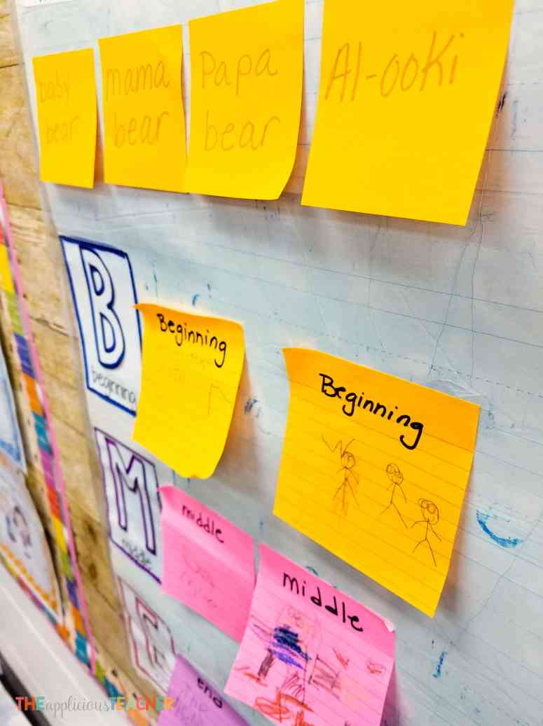 Make the most of your interactive anchor charts by having the studnets fill in the charts (even if they can't write!)