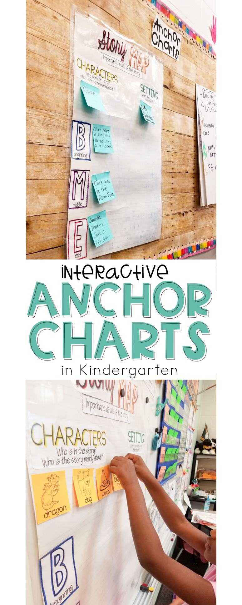Interactive anchor charting in Kindergarten. Yes it can be done and here's how! The Applicious Teacher