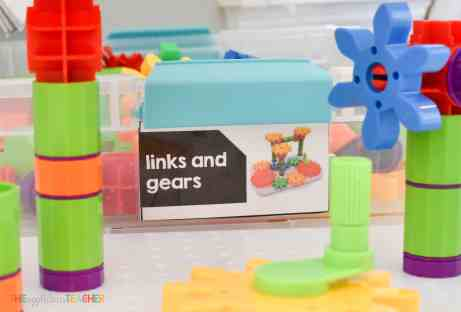 Gears and links for classroom STEM lab